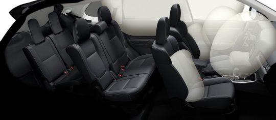 Protection coussins gonflables mitsubishi outlander 2019